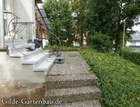 Gilde Gartenbau Bisingen Projekt Treppenbau 02