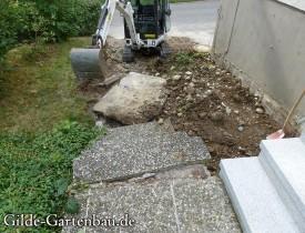 Gilde Gartenbau Bisingen Projekt Treppenbau 03