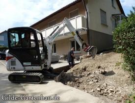 Gilde Gartenbau Bisingen Projekt Treppenbau 04