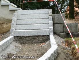 Gilde Gartenbau Bisingen Projekt Treppenbau 07