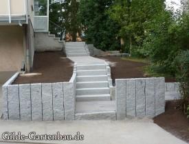 Gilde Gartenbau Bisingen Projekt Treppenbau 10