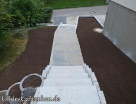 Gilde Gartenbau Bisingen Projekt Treppenbau 11