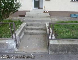 Gilde Gartenbau Bisingen Projekt Zugang zur Haustür + Terasse 01