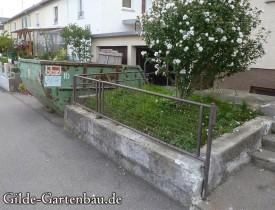 Gilde Gartenbau Bisingen Projekt Zugang zur Haustür + Terasse 02