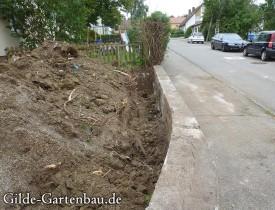 Gilde Gartenbau Bisingen Projekt Zugang zur Haustür + Terasse 05