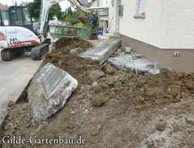 Gilde Gartenbau Bisingen Projekt Zugang zur Haustür + Terasse 06