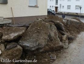 Gilde Gartenbau Bisingen Projekt Zugang zur Haustür + Terasse 07