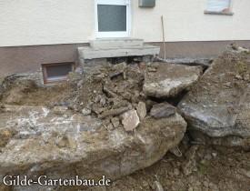 Gilde Gartenbau Bisingen Projekt Zugang zur Haustür + Terasse 08