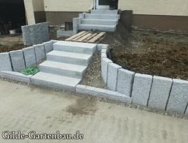 Gilde Gartenbau Bisingen Projekt Zugang zur Haustür + Terasse 09