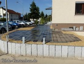 Gilde Gartenbau Bisingen Projekt Zugang zur Haustür + Terasse 13