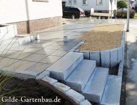Gilde Gartenbau Bisingen Projekt Zugang zur Haustür + Terasse 14