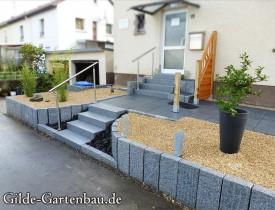 Gilde Gartenbau Bisingen Projekt Zugang zur Haustür + Terasse 15