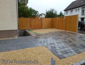 Gilde Gartenbau Bisingen Projekt Zugang zur Haustür + Terasse 16