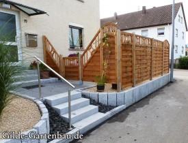 Gilde Gartenbau Bisingen Projekt Zugang zur Haustür + Terasse 17