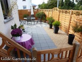 Gilde Gartenbau Bisingen Projekt Zugang zur Haustür + Terasse 18