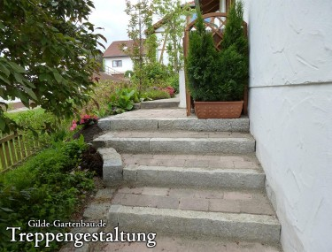 Gilde Gartenbau Bisingen Treppengestaltung 01